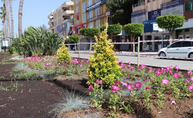 Atatürk Caddesi'nde peyzaj çalışmaları tüm hızıyla devam ediyor