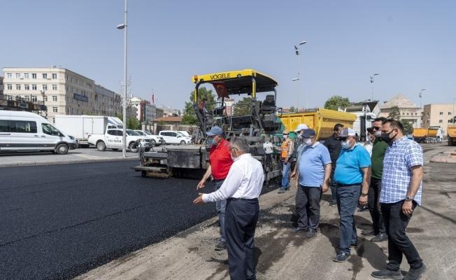 Başkan Büyükkılıç, asfalt çalışmalarını yerinde inceledi