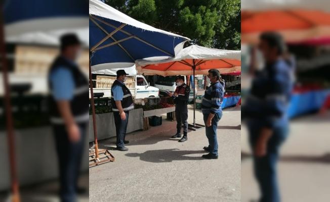 Burdur'da jandarmadan Covid-19 denetimi