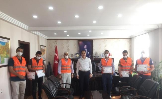 İdil Kaymakamı Sağ'dan Vefa Sosyal Destek Grubu ekibine teşekkür belgesi