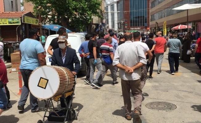 Keşanlı pazar esnafı maske cezasına tepki gösterdi