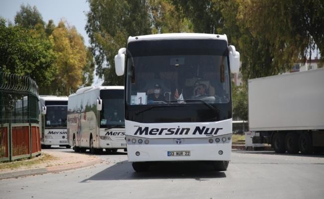 KKTC'den Mersin'e getirilen Suriyeliler Kilis'e gönderildi