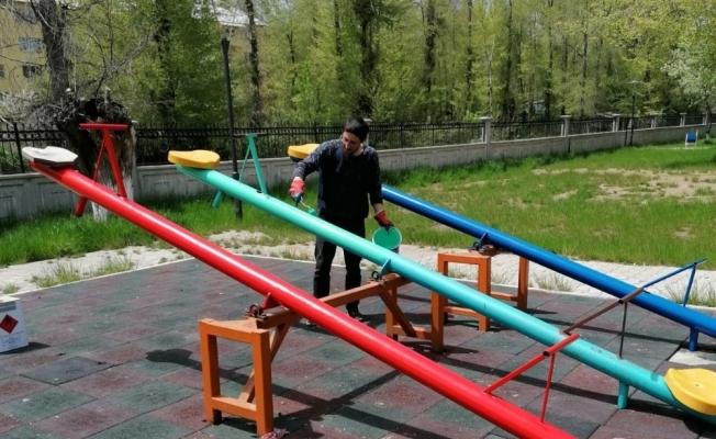 Tatvan'daki parklar yenileniyor