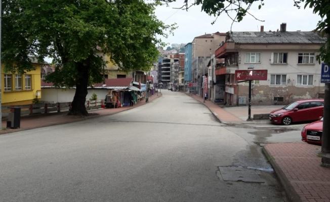 Zonguldak'ta bayramda cadde ve sokaklar boş kaldı