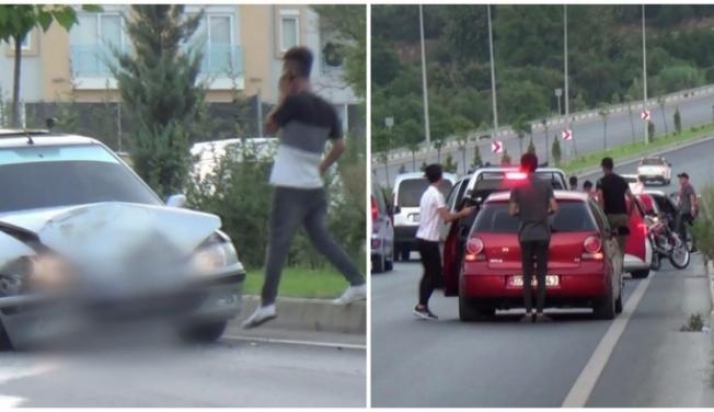 Alanya'da tehlikeli asker eğlencesi kazayla bitti
