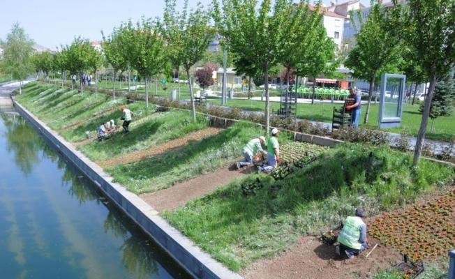 Belediye Park Bahçeler Müdürlüğü, şehir güzelleştirme çalışmalarını sürdürüyor