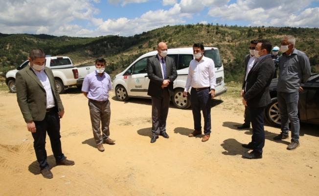 Demirci'de asfalt çalışmaları başladı