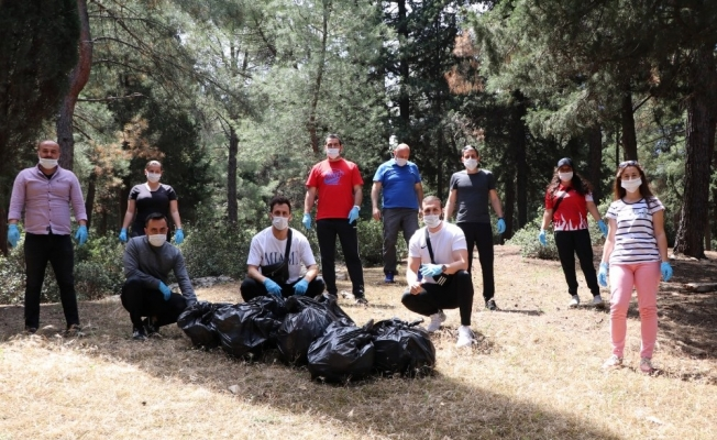 Gençlik ve Spor İl Müdürlüğü antrenörlerinden çevre temizliği farkındalığı