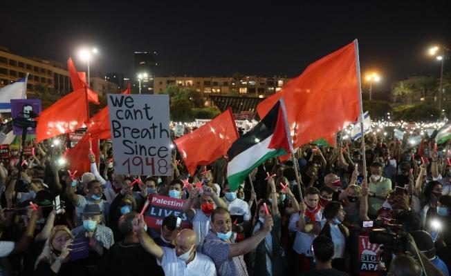 "İsrailliler ""ilhak"" planının protesto etti"