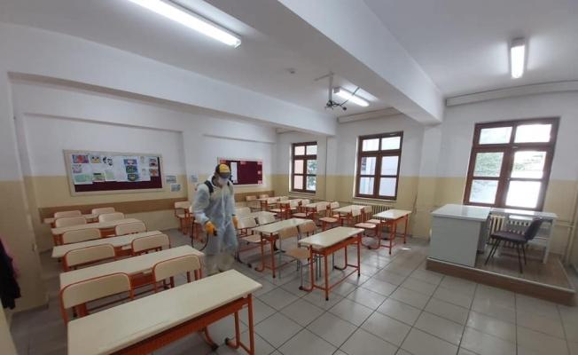 Kastamonu'da sınav merkezlerinin dezenfekte çalışmaları tamamlandı