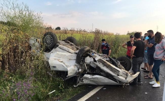 Keşan-Enez karayolunda zincirleme kaza: 3 yaralı
