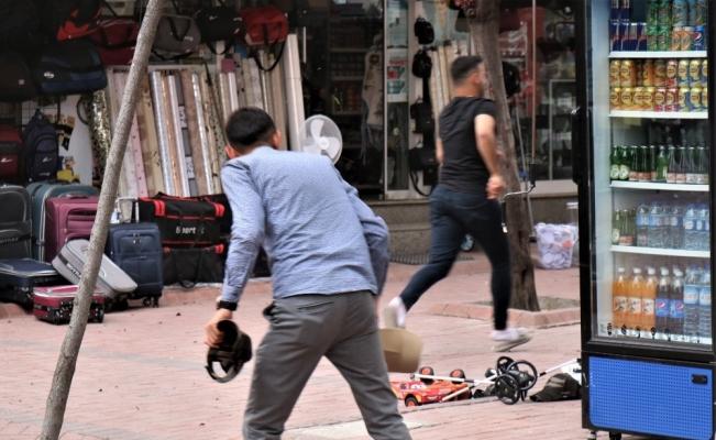 Kırşehir'de, rüzgar etkili oldu