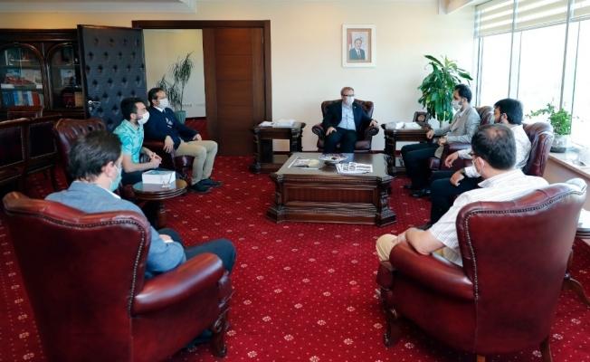 UDEF'ten, Trakya Üniversitesi Rektörü Prof. Dr. Erhan Tabakoğlu'na anlamlı ziyaret