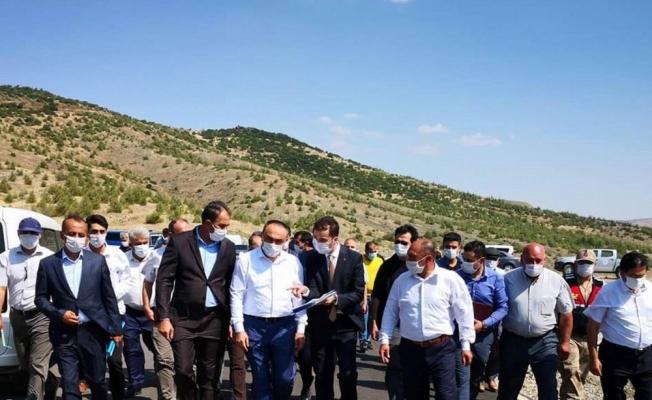 Vali Soytürk biber fabrikası yapılacak alanda incelemerde bulundu