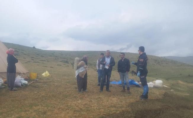 Yağmurdan dolayı yaylada mahsur kalan 6 kişiyi AFAD kurtardı