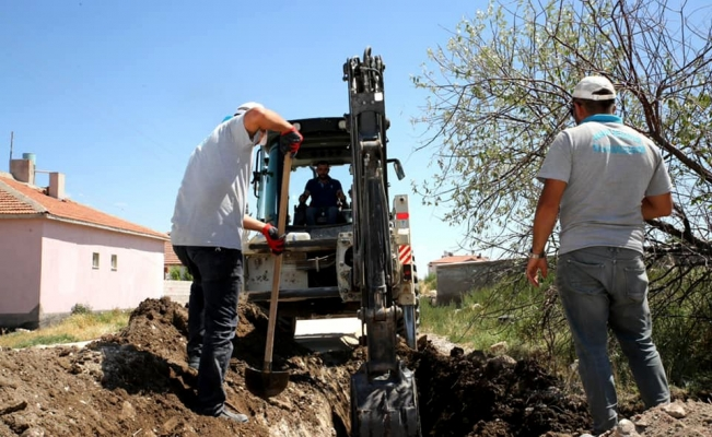 Aksaray'da bazı mahallelere tatlı su hatları yenileniyor