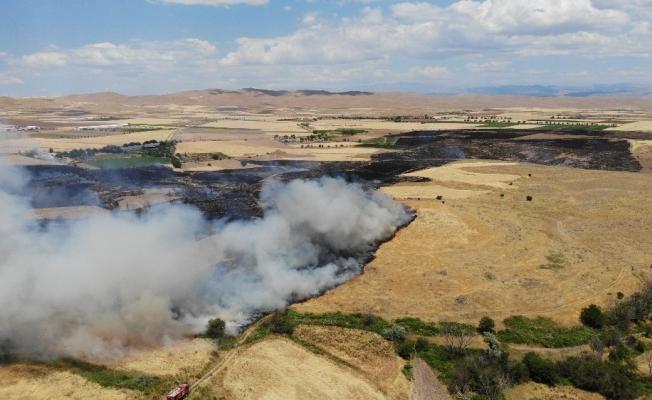 Elazığ'da yangın saatler sonra kontrol altına alındı, 800 dönüm ekili arazi kül oldu