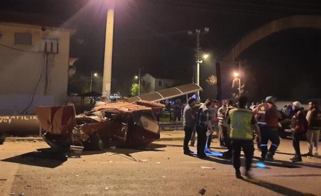 Isparta'da feci kaza: 1 ölü, 3 yaralı
