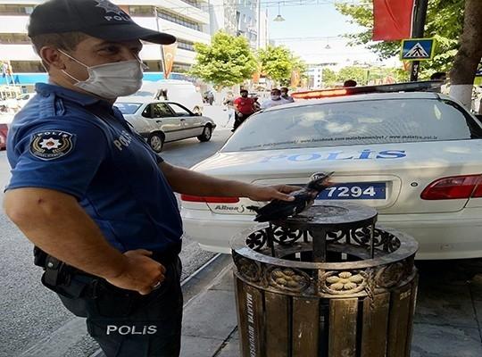 Polisten Kargaya şefkat eli