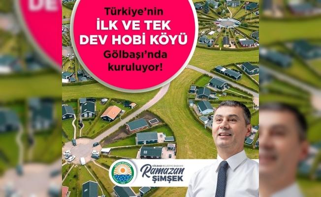 Türkiye'nin ilk dev hobi köyü Gölbaşı'da kuruluyor