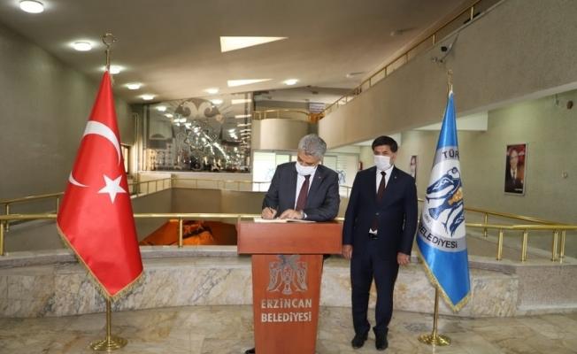 Vali Makas'tan Başkan Aksun'a iade-i ziyaret