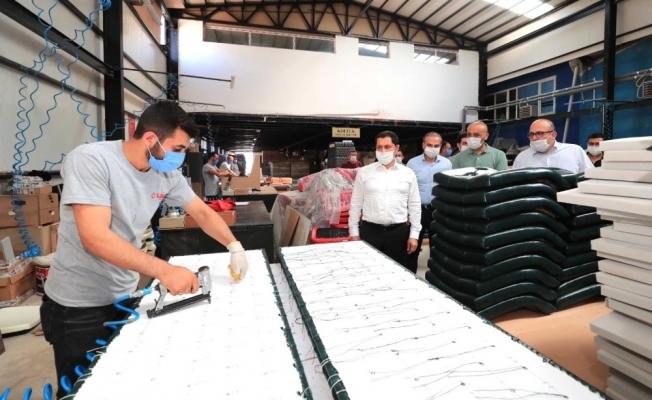 Vali Masatlı'dan Amasya OSB'deki fabrikalarda inceleme