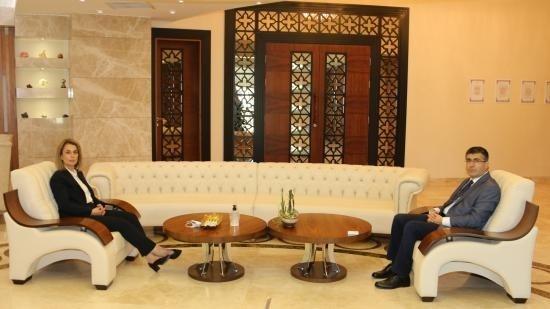 Vali Sezer Becel'den Rektör Aktekin'e ziyaret