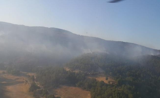 2 farklı noktadaki orman yangınlarından biri kontrol altına alındı