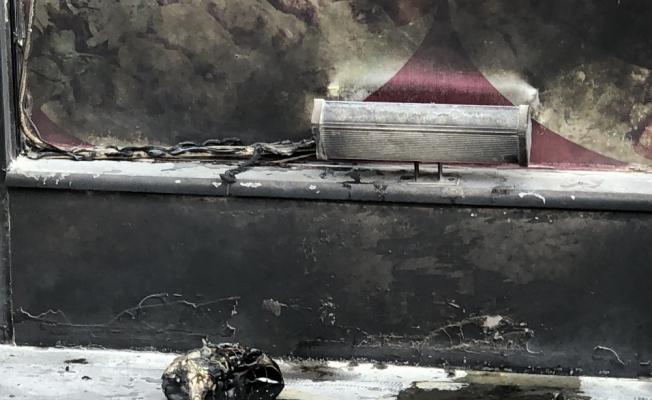 Kars'ta bir iş yeri kundaklandı