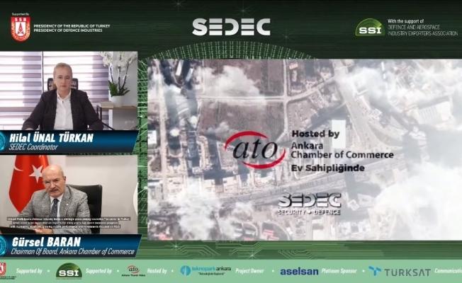 ATO Başkanı Baran, sanal olarak gerçekleşen SEDEC 2020'de konuştu