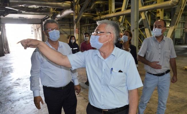 Başkan Akay, Kayseri Şeker'in üretim aşamalarını inceledi