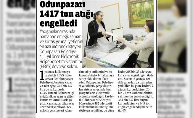 Odunpazarı Belediyesi Türkiye'ye örnek oldu