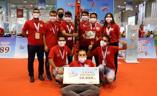 Tanyeli Roket Takımı TEKNOFEST 2020'de Türkiye birincisi