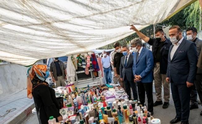 Vali Bilmez'den pazar esnafına ziyaret