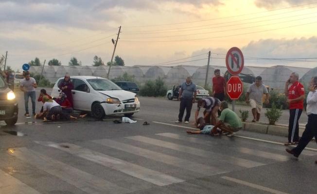 Alanya'da feci kaza 2 yaralı!