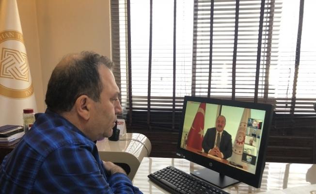 ATSO Başkanı Demirci, Sanayi ve Teknoloji Bakanı ile video konferans aracıyla bir araya geldi
