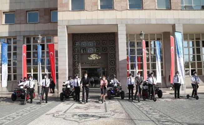 Büyükşehir'den güvenlik görevlilerine yeni ekipman desteği