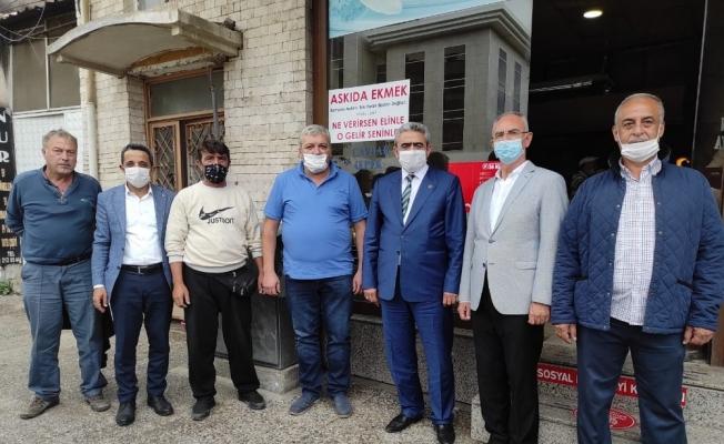 MHP Aydın İl Başkanlığı'ndan 'askıda ekmek' projesine destek