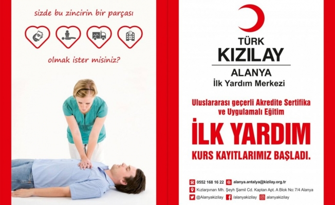 Türk Kızılay'ı Alanya'ya kapılarını açtı