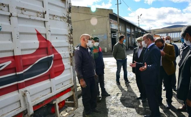 Vali Hüseyin Öner, Küçük Sanayi Sitesinde, 'Sağlık İçin Hepimiz İçin' sloganıyla Koronavirüs denetimi yaptı