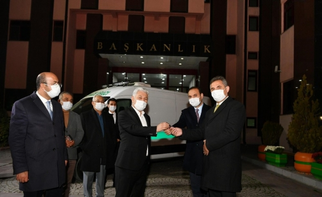 Mamak Belediyesi'nden Şereflikoçhisar Belediyesi'ne cenaze aracı desteği