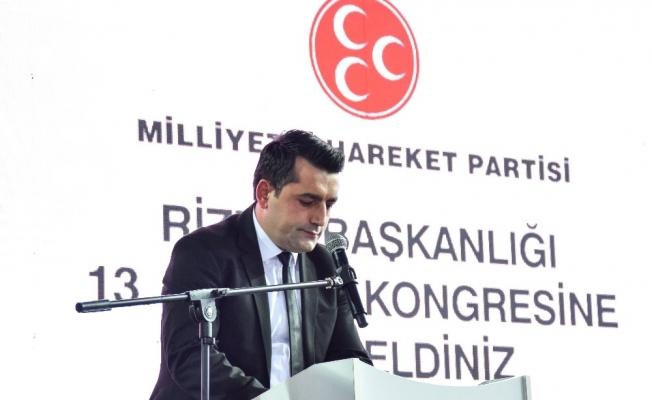MHP Rize İl Başkanı İhsan Alkan güven tazeledi