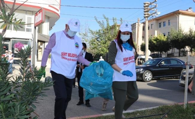 Siirt'te temizlik kampanyası başlatıldı