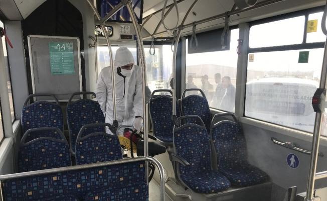 Ağrı Belediyesi toplu yaşam alanlarında dezenfekte çalışması gerçekleştirdi