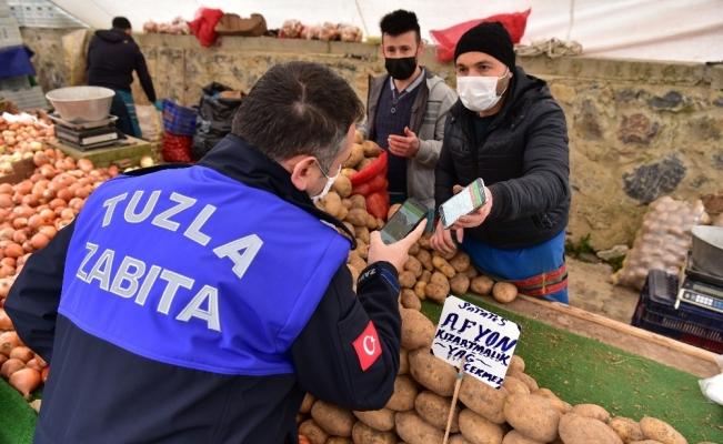 Korona virüsü yenen vatandaş pazara çıktı, denetimlerden memnun kaldı