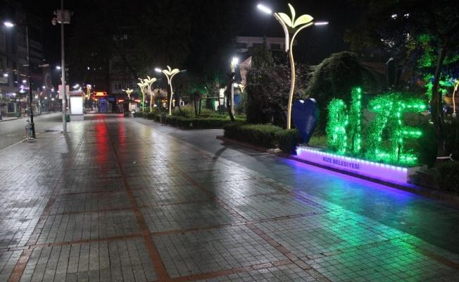 Rize'de sokaklar sessizliğe büründü