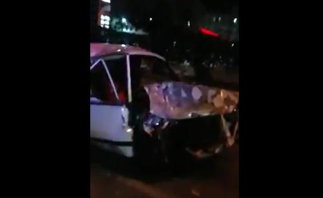 Alanya'da feci kaza, otomobil takla attı: 3 yaralı