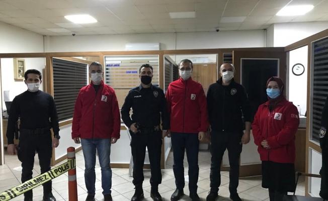 Alanya Kızılay'dan emniyet güçlerine teşekkür ziyareti