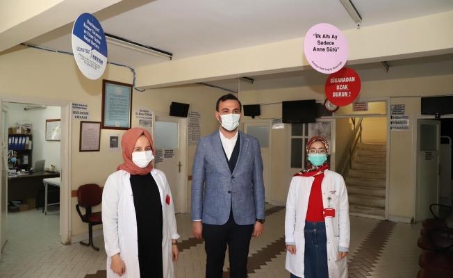 Başkan Toklu'dan sağlık çalışanlarına anlamlı ziyaret