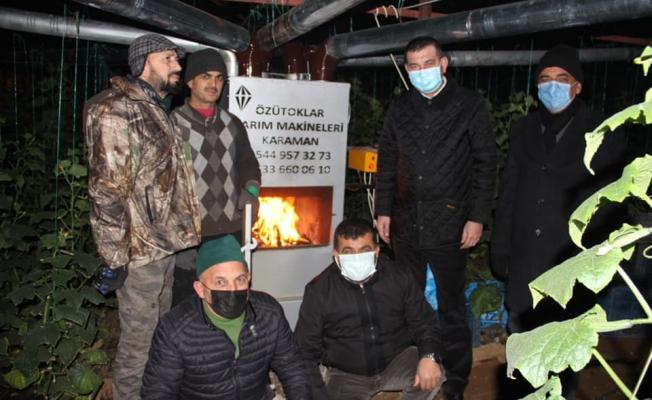 Başkan Türkdoğan üreticilerle birlikte don nöbeti tuttu